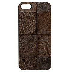 Wood Mosaic Apple iPhone 5 Hardshell Case with Stand