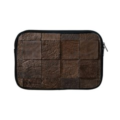 Wood Mosaic Apple Ipad Mini Zippered Sleeve