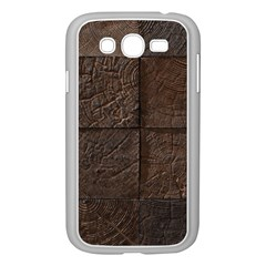 Wood Mosaic Samsung Galaxy Grand DUOS I9082 Case (White)