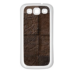 Wood Mosaic Samsung Galaxy S3 Back Case (White)