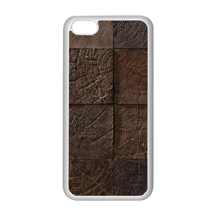 Wood Mosaic Apple iPhone 5C Seamless Case (White)