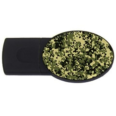 Camouflage 2GB USB Flash Drive (Oval)