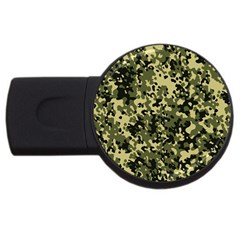 Camouflage 4gb Usb Flash Drive (round)