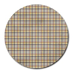 Plaid 4 8  Mouse Pad (Round)