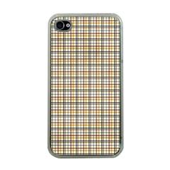 Plaid 4 Apple Iphone 4 Case (clear)