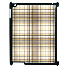 Plaid 4 Apple iPad 2 Case (Black)