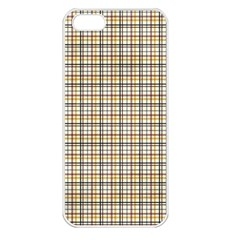 Plaid 4 Apple Iphone 5 Seamless Case (white)