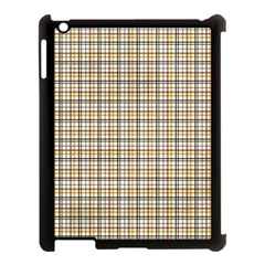 Plaid 4 Apple iPad 3/4 Case (Black)
