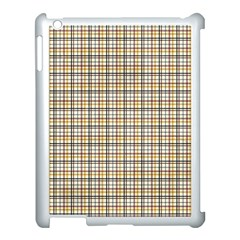 Plaid 4 Apple iPad 3/4 Case (White)