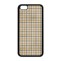 Plaid 4 Apple iPhone 5C Seamless Case (Black)