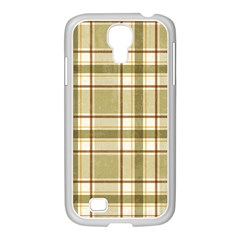Plaid 9 Samsung Galaxy S4 I9500/ I9505 Case (white)