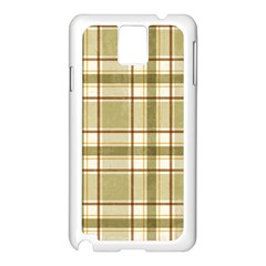 Plaid 9 Samsung Galaxy Note 3 N9005 Case (White)