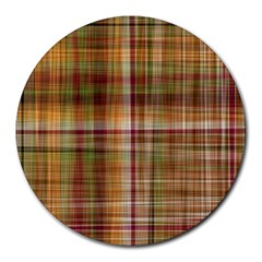 Plaid 2 8  Mouse Pad (round)