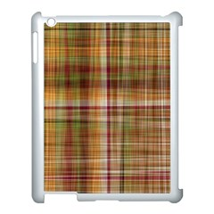 Plaid 2 Apple iPad 3/4 Case (White)
