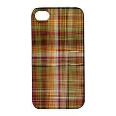Plaid 2 Apple Iphone 4/4s Hardshell Case With Stand