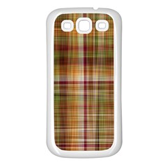 Plaid 2 Samsung Galaxy S3 Back Case (White)