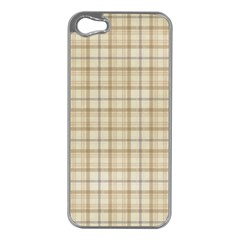 Plaid 7 Apple iPhone 5 Case (Silver)
