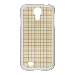 Plaid 7 Samsung Galaxy S4 I9500/ I9505 Case (white)