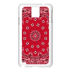 Bandana Samsung Galaxy Note 3 N9005 Case (White)