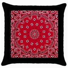 Bandana Black Throw Pillow Case
