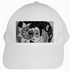 Venetian Mask White Baseball Cap