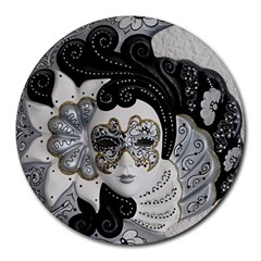 Venetian Mask 8  Mouse Pad (Round)