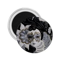 Venetian Mask 2.25  Button Magnet