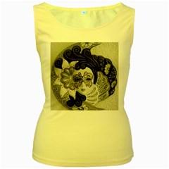 Venetian Mask Women s Tank Top (Yellow)