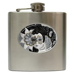 Venetian Mask Hip Flask