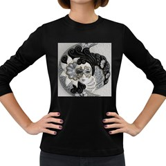 Venetian Mask Women s Long Sleeve T Shirt (dark Colored)