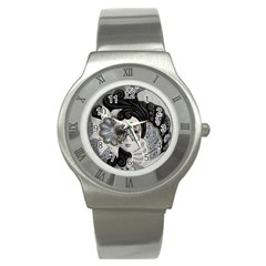 Venetian Mask Stainless Steel Watch (Slim)