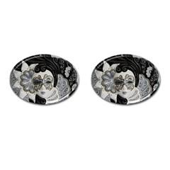 Venetian Mask Cufflinks (oval)