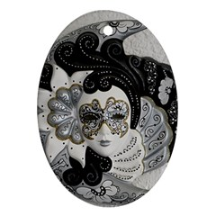 Venetian Mask Oval Ornament (Two Sides)