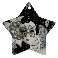 Venetian Mask Star Ornament (two Sides)