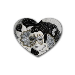 Venetian Mask Drink Coasters (Heart)