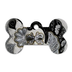 Venetian Mask Dog Tag Bone (one Sided)