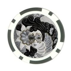 Venetian Mask Poker Chip