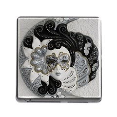 Venetian Mask Memory Card Reader with Storage (Square)