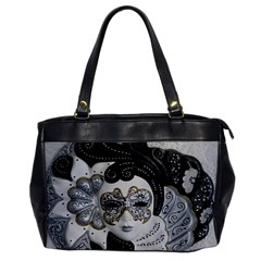 Venetian Mask Oversize Office Handbag (one Side)