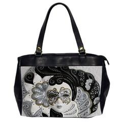 Venetian Mask Oversize Office Handbag (two Sides)