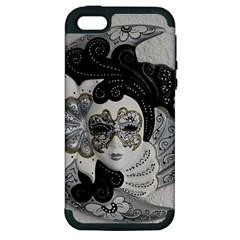 Venetian Mask Apple Iphone 5 Hardshell Case (pc+silicone)