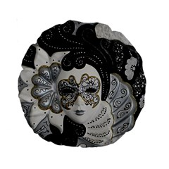 Venetian Mask 15  Premium Round Cushion