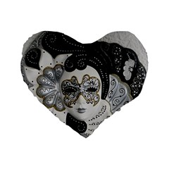 Venetian Mask 16  Premium Heart Shape Cushion