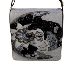 Venetian Mask Flap Closure Messenger Bag (Large)