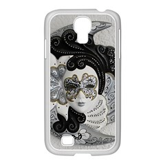 Venetian Mask Samsung GALAXY S4 I9500/ I9505 Case (White)