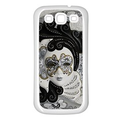 Venetian Mask Samsung Galaxy S3 Back Case (White)