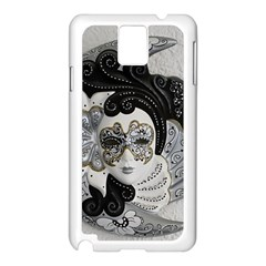 Venetian Mask Samsung Galaxy Note 3 N9005 Case (white)