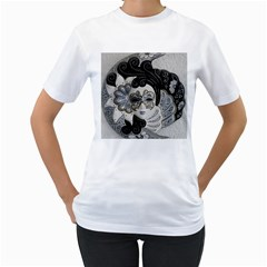 Venetian Mask Women s T-Shirt (White)