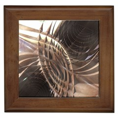 Abstract Copper Metallic Texture Framed Tile