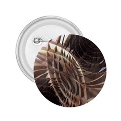 Abstract Copper Metallic Texture 2.25  Button